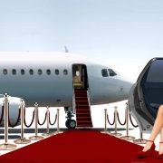 airport luxury red carpet