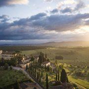 COMO Castello Del Nero Tuscan Landscape at Sunrise